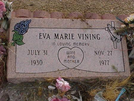 VINING, EVA MARIE - Gila County, Arizona | EVA MARIE VINING - Arizona Gravestone Photos