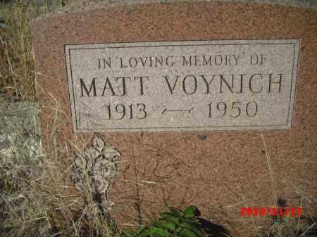 VOYNICH, MATT - Gila County, Arizona | MATT VOYNICH - Arizona Gravestone Photos
