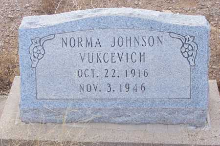 JOHNSON VUKCEVICH, NORMA ELIZABETH - Gila County, Arizona | NORMA ELIZABETH JOHNSON VUKCEVICH - Arizona Gravestone Photos
