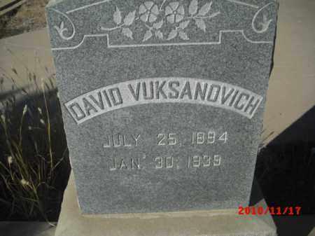 VUKSANOVICH, DAVID - Gila County, Arizona   DAVID VUKSANOVICH - Arizona Gravestone Photos