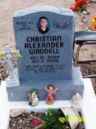 WADDELL, CHRISTIAN ALEXANDER - Gila County, Arizona | CHRISTIAN ALEXANDER WADDELL - Arizona Gravestone Photos