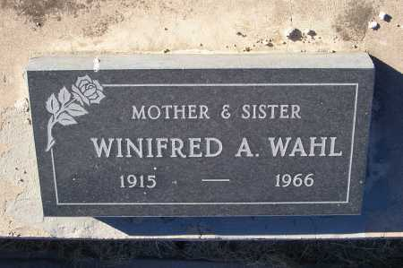 WAHL, WINIFRED A. - Gila County, Arizona | WINIFRED A. WAHL - Arizona Gravestone Photos