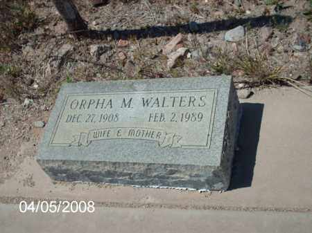 WALTERS, ORPHA M. - Gila County, Arizona   ORPHA M. WALTERS - Arizona Gravestone Photos