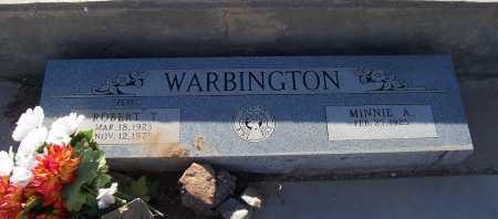 WARBINGTON, ROBERT T. - Gila County, Arizona | ROBERT T. WARBINGTON - Arizona Gravestone Photos