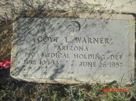 WARNER, COYT L. - Gila County, Arizona | COYT L. WARNER - Arizona Gravestone Photos
