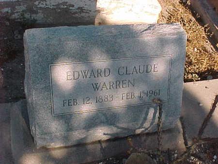 WARREN, EDWARD CLAUDE - Gila County, Arizona   EDWARD CLAUDE WARREN - Arizona Gravestone Photos