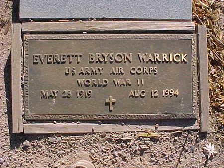 WARRICK, EVERETT BRYSON - Gila County, Arizona   EVERETT BRYSON WARRICK - Arizona Gravestone Photos