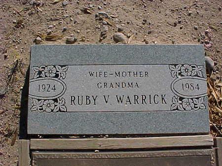 WARRICK, RUBY  V. - Gila County, Arizona | RUBY  V. WARRICK - Arizona Gravestone Photos