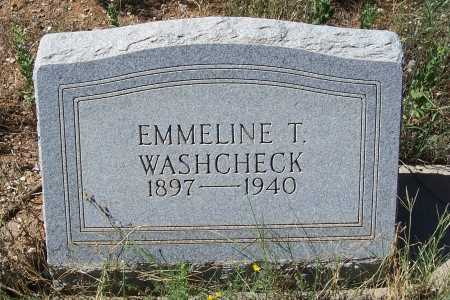 WASHCHECK, EMMELINE T. - Gila County, Arizona | EMMELINE T. WASHCHECK - Arizona Gravestone Photos