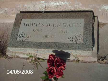 WATTS, THOMAS JOHN - Gila County, Arizona | THOMAS JOHN WATTS - Arizona Gravestone Photos