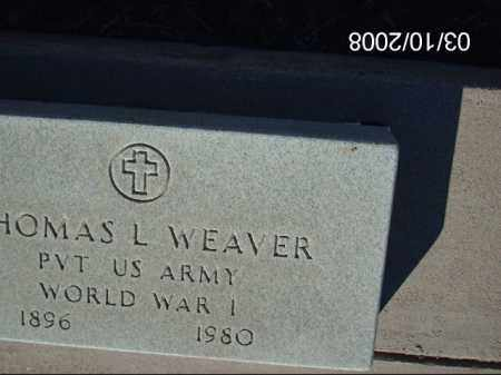 WEAVER, THOMAS L. - Gila County, Arizona | THOMAS L. WEAVER - Arizona Gravestone Photos