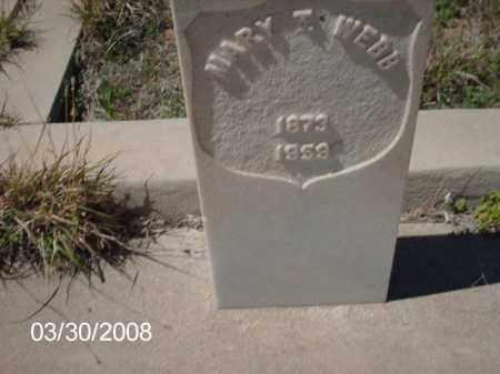 WEBB, MARY T. - Gila County, Arizona | MARY T. WEBB - Arizona Gravestone Photos