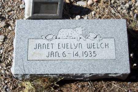 WELCH, JANET EVELYN - Gila County, Arizona | JANET EVELYN WELCH - Arizona Gravestone Photos