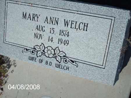 WELCH, MARY ANN - Gila County, Arizona   MARY ANN WELCH - Arizona Gravestone Photos
