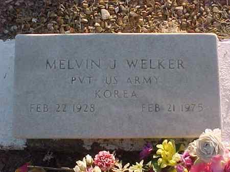 WELKER, MELVIN J. - Gila County, Arizona | MELVIN J. WELKER - Arizona Gravestone Photos