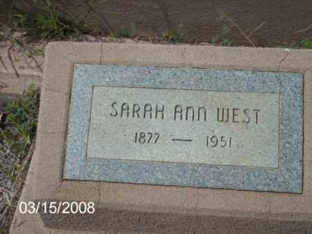 WEST, SARAH - Gila County, Arizona   SARAH WEST - Arizona Gravestone Photos
