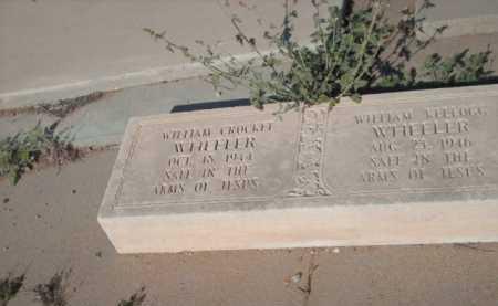 WHEELER, WILLIAM CROCKET - Gila County, Arizona | WILLIAM CROCKET WHEELER - Arizona Gravestone Photos