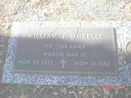 WHEELER, WILLIAM J. - Gila County, Arizona | WILLIAM J. WHEELER - Arizona Gravestone Photos