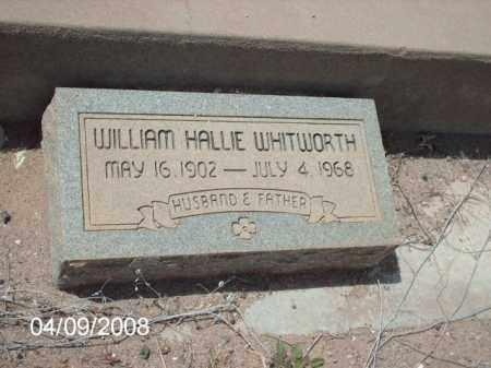 WHITWORTH, WILLIAM HALLIE - Gila County, Arizona | WILLIAM HALLIE WHITWORTH - Arizona Gravestone Photos