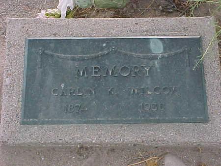 WILCOX, CARLIN  K. - Gila County, Arizona | CARLIN  K. WILCOX - Arizona Gravestone Photos