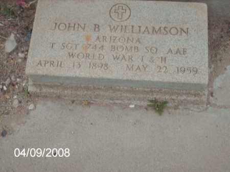 WILLIAMSON, JOHN B. - Gila County, Arizona | JOHN B. WILLIAMSON - Arizona Gravestone Photos