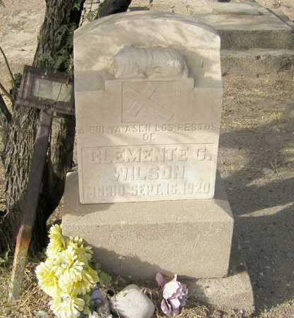 WILSON, CLEMENTE  G. - Gila County, Arizona | CLEMENTE  G. WILSON - Arizona Gravestone Photos