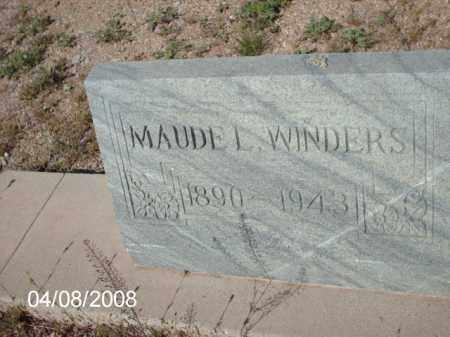 WINDERS, MAUDE L. - Gila County, Arizona | MAUDE L. WINDERS - Arizona Gravestone Photos