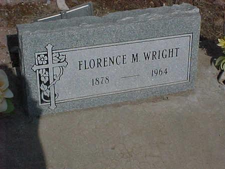 WRIGHT, FLORENCE  M. - Gila County, Arizona | FLORENCE  M. WRIGHT - Arizona Gravestone Photos