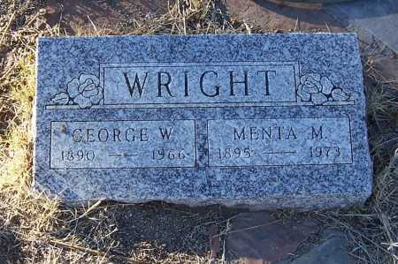WRIGHT, GEORGE W. - Gila County, Arizona | GEORGE W. WRIGHT - Arizona Gravestone Photos