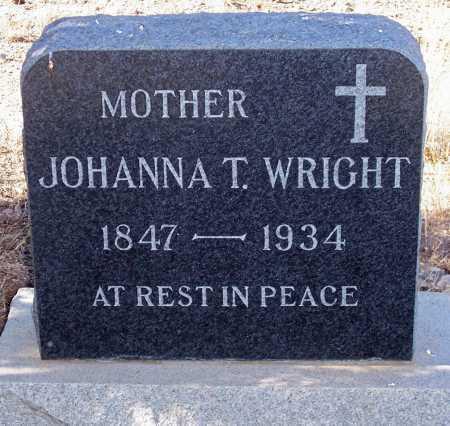 WRIGHT, JOHANNA T. - Gila County, Arizona | JOHANNA T. WRIGHT - Arizona Gravestone Photos