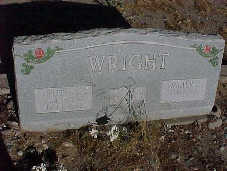 WRIGHT, WALTER  C. - Gila County, Arizona | WALTER  C. WRIGHT - Arizona Gravestone Photos