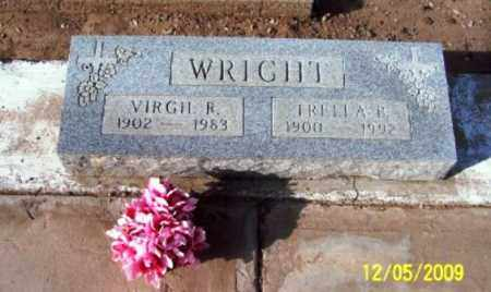 WRIGHT, VIRGIL  R. - Gila County, Arizona | VIRGIL  R. WRIGHT - Arizona Gravestone Photos