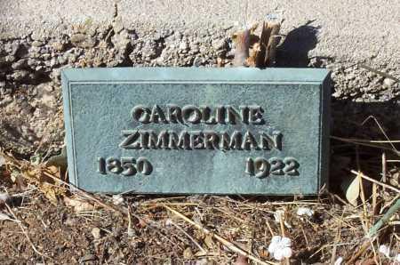 ZIMMERMAN, CAROLINE - Gila County, Arizona | CAROLINE ZIMMERMAN - Arizona Gravestone Photos