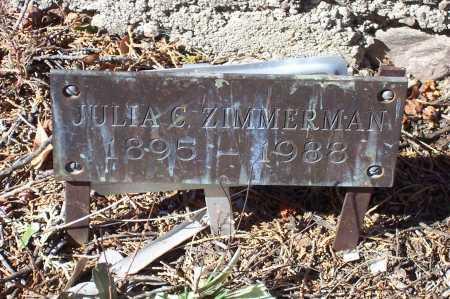 ZIMMERMAN, JULIA C. - Gila County, Arizona | JULIA C. ZIMMERMAN - Arizona Gravestone Photos