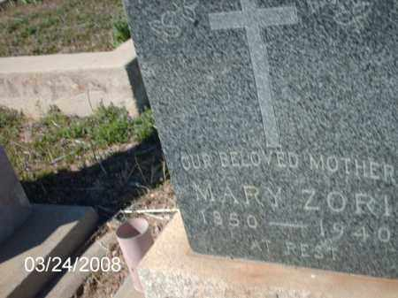 ZORI, MARY - Gila County, Arizona | MARY ZORI - Arizona Gravestone Photos
