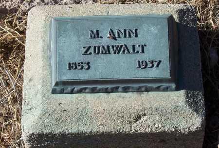 ZUMWALT, M. ANN - Gila County, Arizona | M. ANN ZUMWALT - Arizona Gravestone Photos