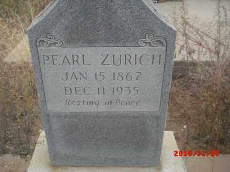 ZURICH, PEARL - Gila County, Arizona | PEARL ZURICH - Arizona Gravestone Photos
