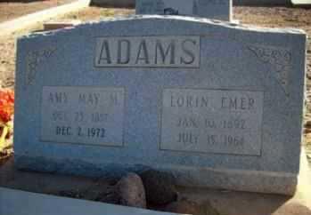 MOODY ADAMS, AMY MAY - Graham County, Arizona   AMY MAY MOODY ADAMS - Arizona Gravestone Photos