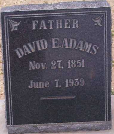 ADAMS, DAVID E. - Graham County, Arizona | DAVID E. ADAMS - Arizona Gravestone Photos