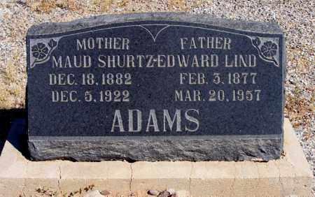 SHURTZ ADAMS, MAUD - Graham County, Arizona | MAUD SHURTZ ADAMS - Arizona Gravestone Photos
