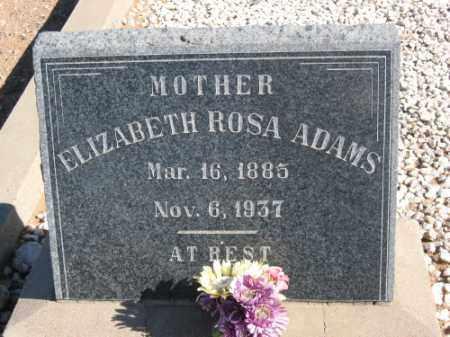 ADAMS, ELIZABETH ROSA - Graham County, Arizona   ELIZABETH ROSA ADAMS - Arizona Gravestone Photos