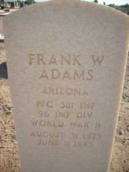 ADAMS, FRANK WILFORD - Graham County, Arizona | FRANK WILFORD ADAMS - Arizona Gravestone Photos