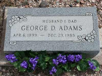 ADAMS, GEORGE DAN - Graham County, Arizona   GEORGE DAN ADAMS - Arizona Gravestone Photos