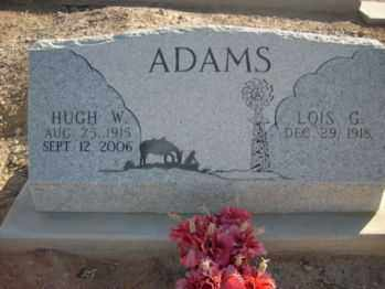 ADAMS, LOIS G - Graham County, Arizona | LOIS G ADAMS - Arizona Gravestone Photos
