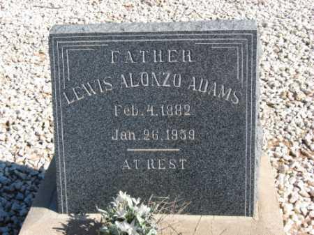 ADAMS, LEWIS ALONZO - Graham County, Arizona | LEWIS ALONZO ADAMS - Arizona Gravestone Photos