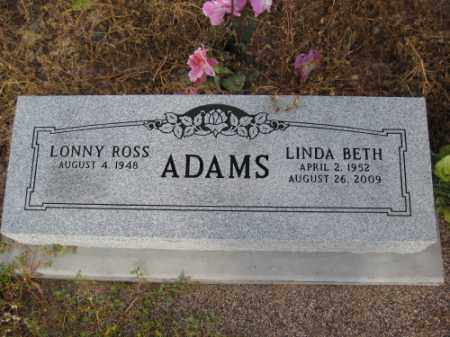 ADAMS, LONNY ROSS - Graham County, Arizona | LONNY ROSS ADAMS - Arizona Gravestone Photos