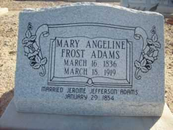 FROST ADAMS, MARY ANGELINE - Graham County, Arizona | MARY ANGELINE FROST ADAMS - Arizona Gravestone Photos