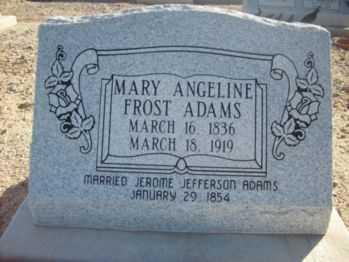 ADAMS, MARY ANGELINE - Graham County, Arizona | MARY ANGELINE ADAMS - Arizona Gravestone Photos
