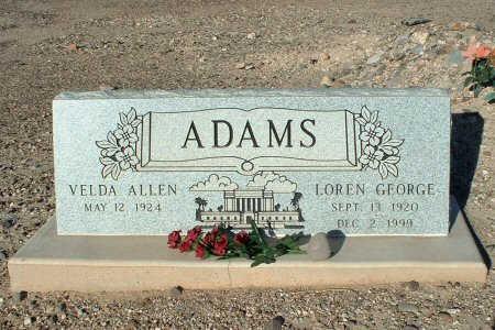 ADAMS, LOREN GEORGE - Graham County, Arizona | LOREN GEORGE ADAMS - Arizona Gravestone Photos