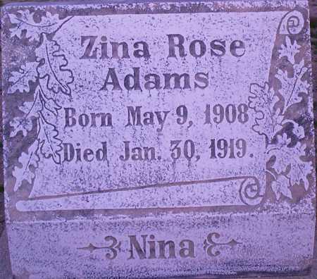 ADAMS, ZINA ROSE - Graham County, Arizona   ZINA ROSE ADAMS - Arizona Gravestone Photos